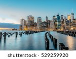 manhattan at night  new york... | Shutterstock . vector #529259920