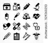 medical icons on white... | Shutterstock .eps vector #529263253