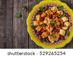 oriental sweets with dates and... | Shutterstock . vector #529265254