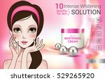 cosmetic face whitening cream... | Shutterstock .eps vector #529265920