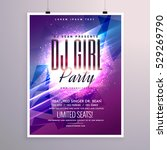 beautiful party flyer template... | Shutterstock .eps vector #529269790