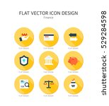 finance flat icon set | Shutterstock .eps vector #529284598