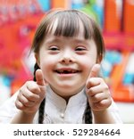 portrait of beautiful disabled... | Shutterstock . vector #529284664