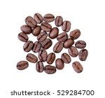roasted coffee beans on white... | Shutterstock . vector #529284700