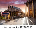 temple of the emerald buddha... | Shutterstock . vector #529285393