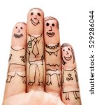 fingers family isolated on... | Shutterstock . vector #529286044