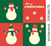 christmas greeting card with... | Shutterstock .eps vector #529286170