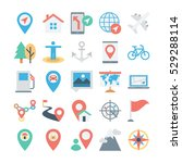map and navigation colored... | Shutterstock .eps vector #529288114