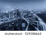 city scape in blue tone.... | Shutterstock . vector #529288663