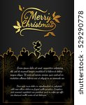 christmas card from vector... | Shutterstock .eps vector #529290778