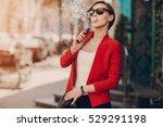 spectacular young brunette...   Shutterstock . vector #529291198