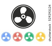 fan vector icon. illustration... | Shutterstock .eps vector #529293124