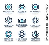 science symbols  atom and... | Shutterstock .eps vector #529299430