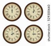 set of realistic wall clocks ... | Shutterstock .eps vector #529300660