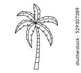 palm icon. outline illustration ...   Shutterstock .eps vector #529307389