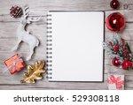christmas letter writing on... | Shutterstock . vector #529308118