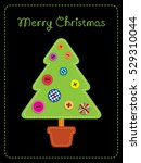 greeting card with text. vector ...   Shutterstock .eps vector #529310044
