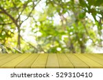 empty wooden table top and... | Shutterstock . vector #529310410