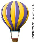 Hot Air Balloon In Yellow And...