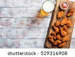 buffalo style chicken wings... | Shutterstock . vector #529316908