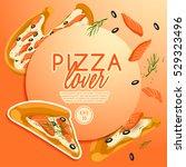 pizza elements   vector...   Shutterstock .eps vector #529323496