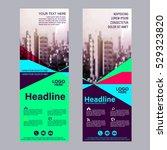 modern roll up layout template. ... | Shutterstock .eps vector #529323820