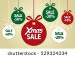 christmas balls sale | Shutterstock .eps vector #529324234