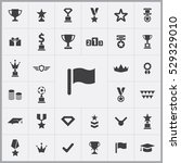 flag icon. award icons... | Shutterstock . vector #529329010