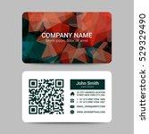 modern business card template | Shutterstock .eps vector #529329490