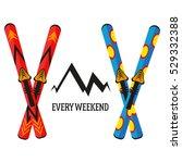 ski vector illustration... | Shutterstock .eps vector #529332388