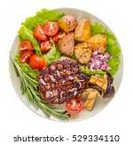 Grilled Steak  With Vegetables...