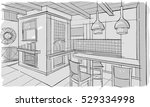 fast sketch of the living... | Shutterstock .eps vector #529334998