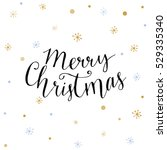 merry christmas card with... | Shutterstock .eps vector #529335340