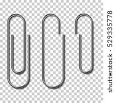 metal paper clips isolated and...
