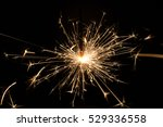 fire sparklers on black... | Shutterstock . vector #529336558