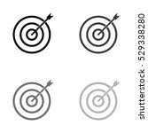 darts    black vector icon   Shutterstock .eps vector #529338280
