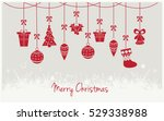 merry christmas greeting card... | Shutterstock .eps vector #529338988