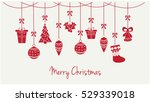 merry christmas greeting card... | Shutterstock .eps vector #529339018