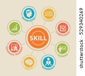 skill. concept with icons and... | Shutterstock .eps vector #529340269