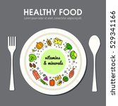 healty food background... | Shutterstock .eps vector #529341166
