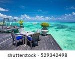 sea in maldives. tropical beach ... | Shutterstock . vector #529342498