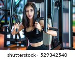 asia young woman lifting... | Shutterstock . vector #529342540