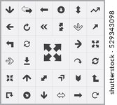 arrows icons universal set for... | Shutterstock . vector #529343098