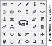 army icons universal set for... | Shutterstock . vector #529343944