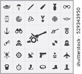 army icons universal set for... | Shutterstock . vector #529343950