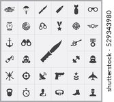 knife icon. army icons... | Shutterstock . vector #529343980