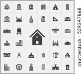 architecture icons universal...   Shutterstock . vector #529347868