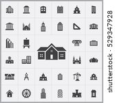 architecture icons universal... | Shutterstock . vector #529347928