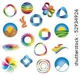colorful brand identity design... | Shutterstock .eps vector #52934926