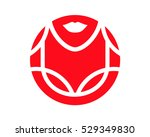 a simple clean logotype showing ... | Shutterstock .eps vector #529349830